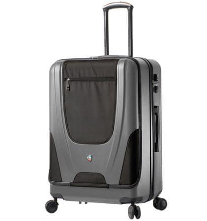 Mia Toro Utazó bőrönd M1325/3-L - ezüst
