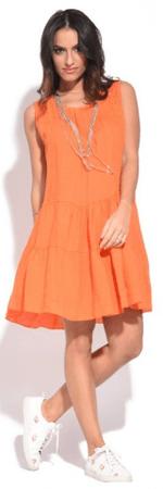 Couleur Lin sukienka damska Raquel 36 pomarańczowy