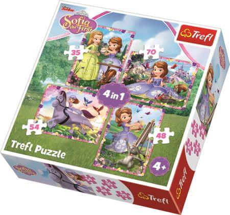 Trefl Puzzle Sofie První Dobrodružství 4v1 (35,48,54,70 dílků)
