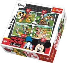 Trefl Puzzle Mickey Mouse a priatelia v parku 4v1 (35,48,54,70 dielikov)
