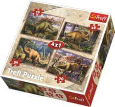 Trefl Puzzle Dinosauři 4v1 (35,48,54,70 dílků)
