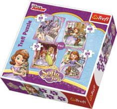 Trefl Puzzle Princezna Sofie První 4v1 (35,48,54,70 dílků)