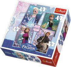 Trefl Puzzle Ledové království 4v1 (35,48,54,70 dílků)