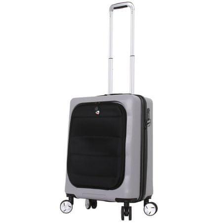 Mia Toro Utazó bőrönd M1703/3-S ezüst