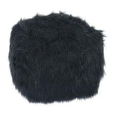 Taburet, umelá kožušina čierna, AZENE