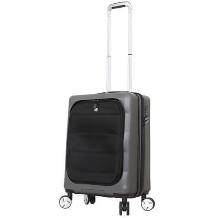 Mia Toro Utazó bőrönd M1703/3-S - charcoal