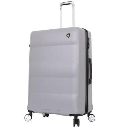 Mia Toro Utazó bőrönd M1703/3-L - ezüst