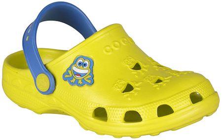 Coqui gyerek szandál Little Frog 23,5 sárga