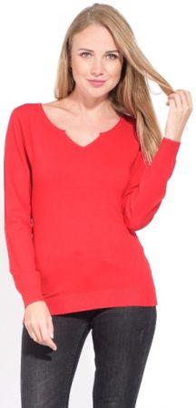 CACHEMIRE FRANCAIS ženski pulover, 40, rdeč