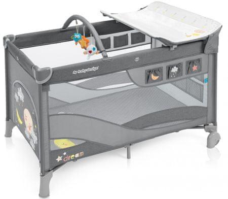 Baby Design Dream 5 krevetić, sivi