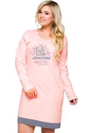 TARO Női hálóing Viva 2016 pink + Nőin zokni Sophia 2pack visone, rózsaszín, 6XL