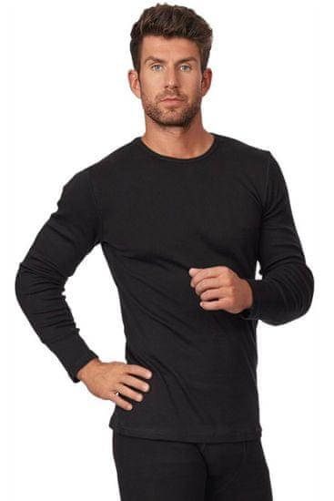 Cornette Pánske tričko 214 black, čierna, S
