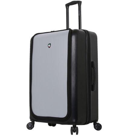 Mia Toro Utazó bőrönd M1709/2-L - fekete/ezüst