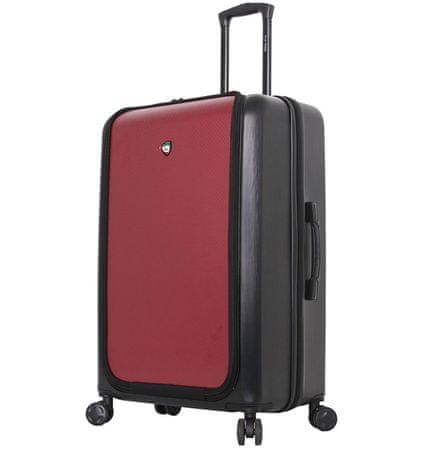 Mia Toro Utazó bőrönd M1709/2-L - fekete/vörös
