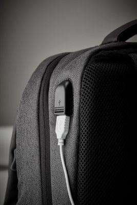 Plecak, plecak na laptopa, port ładowania USB, kieszeń bezpieczeństwa, wentylowany tył