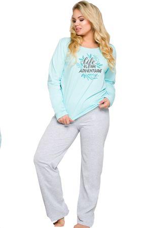 TARO Női pizsama 259 Sylwia blue + Nőin zokni Sophia 2pack visone, kék, XXL