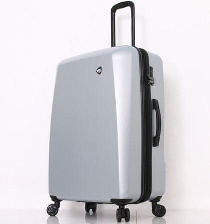 Mia Toro M1713/3-L Utazóbőrönd - ezüst