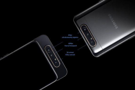 Samsung Galaxy A80, trojitý fotoaparát, vysoké rozlišení, ultra širokoúhlý