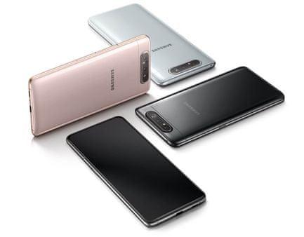 Samsung Galaxy A80, ergonomický, elegantní, minimalistický design