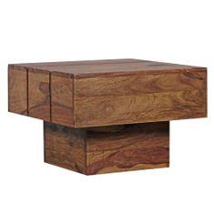Bruxxi Konferenčný stolík Sira, 44 cm, masív Sheesham