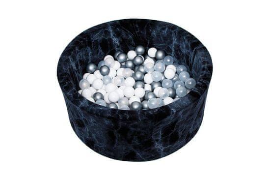 Misioo Bazén s míčky 90x40cm Černý mramor šedá
