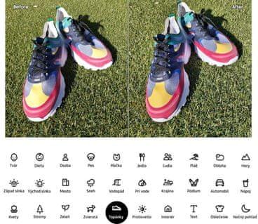 Samsung Galaxy A80, umělá inteligence fotoaparátu, optimalizace scény, chytré režimy
