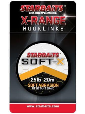 Starbaits Návazcová Šňůrka Soft X Dark Green 20 m 35 lb