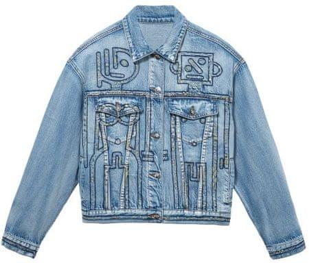 Desigual Chaq Sherpa ženska jakna, XS, modra