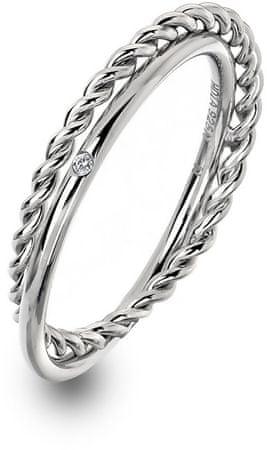 Hot Diamonds Luxus ezüst gyűrű Jasmine DR210 jobb gyémántmal (áramkör 53 mm) ezüst 925/1000