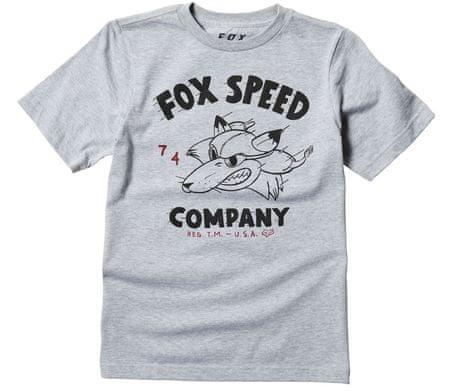 Fox tričko Youth Bomber Ss grey vel. YS