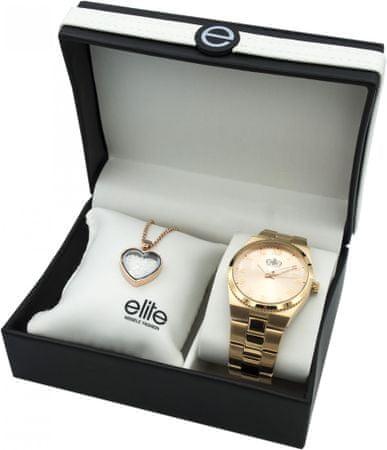Elite Models komplet ženske ročne ure in ženski lančići E54364G-812