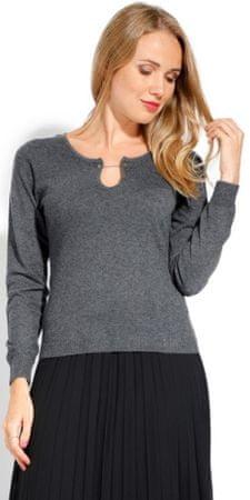 CACHEMIRE FRANCAIS ženski pulover, 36, siv