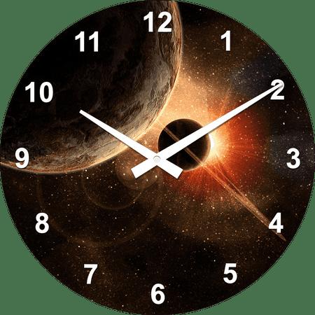Postershop stenska ura Pogled v vesolje
