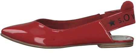s.Oliver dámské sandály 38 červená