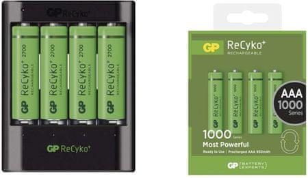 GP NAB. USB U421+ 4× AAA RECYKO+ HR03