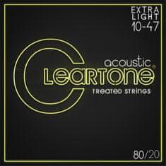 Cleartone 80/20 Bronze 10-47 Extra Light Kovové struny na akustickú gitaru