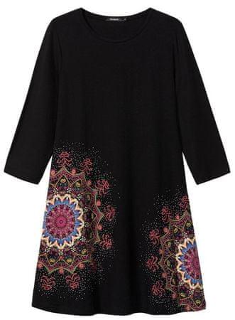 Desigual dámske šaty Vest Mara XS čierna