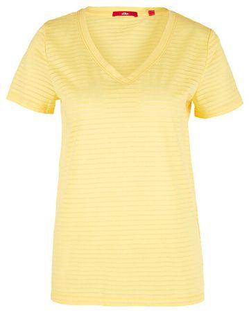 s.Oliver Női póló 14.906.32.7009.1355 Bright Yellow (méret 36)