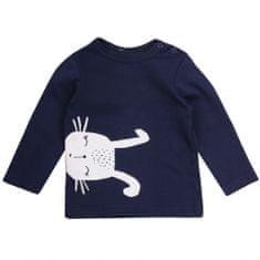 Garnamama Dětské tričko s dlouhým rukávem Rabbit - tmavě modrý