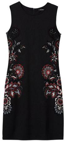 Desigual dámske šaty Vest Denis XS čierna
