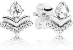 Pandora Ezüst fülbevaló tiszta kövekkel 297787GB ezüst 925/1000