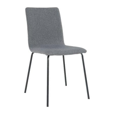 Jedálenská stolička, tmavosivá/čierna, RENITA