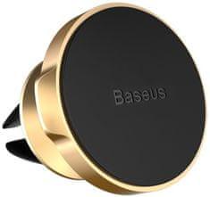 BASEUS Small Ears magnetický držák telefonu do ventilační mřížky auta SUER-A0V, zlatý