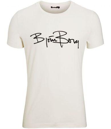 Björn Borg muška majica s kratkim rukavima Tee Signature Logo, M, prljavo bijela