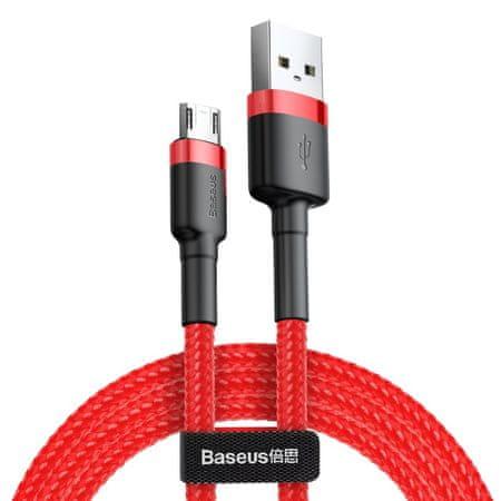 BASEUS Cafule adatkábel microUSB, 2 m, piros CAMKLF-B09