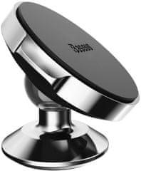 BASEUS Small Ears otočný magnetický držák telefonu na palubní desku auta SUER-B01, černý