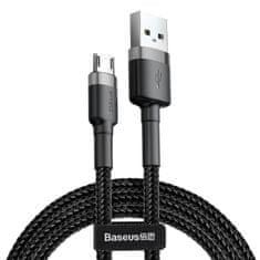 BASEUS Cafule datový kabel microUSB, 2 m, šedo-černá CAMKLF-CG1