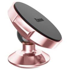 BASEUS Small Ears otočný magnetický držák telefonu na palubní desku auta SUER-B0R, růžovo-zlatý