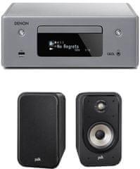 DENON RCD-N10 CEOL, šedý + Polk S20e, čierne