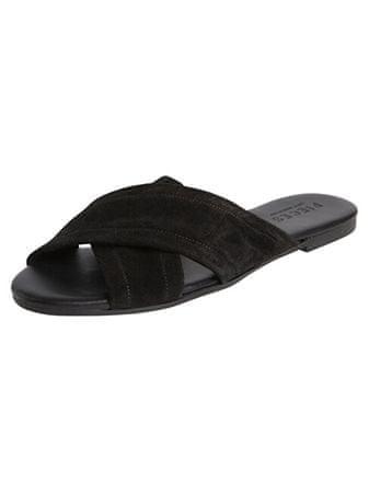 Pieces Marnie Suede szandál Black cipő (méret 37) | MALL.HU
